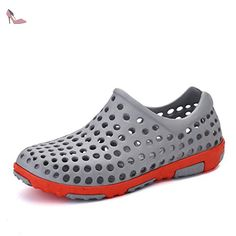 the best attitude fd07d 2d301 Santiro Le Glissement De l femmes Hommes Sur Sneaker Unisexe Trou  Chaussures Haute-eau.  Amazon.fr  Chaussures et Sacs