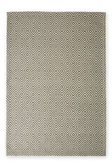 Wool Diamond Geo Grey Rug