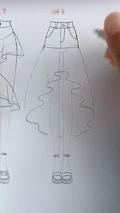 Fashion Drawing Tutorial, Fashion Figure Drawing, Fashion Illustration Tutorial, Fashion Drawing Dresses, Fashion Illustration Dresses, Dress Design Drawing, Dress Design Sketches, Fashion Design Sketchbook, Fashion Design Drawings