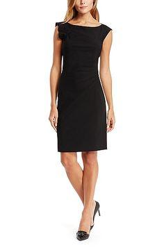'Daperla' | Stretch Virgin Wool Dress, Black
