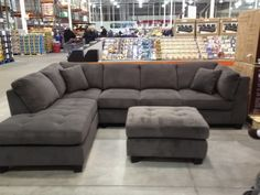 Costco 7 piece modular sofa gray sectional sofa Costco modular sectional sofa set Costco sectional couch from Costco sectional sofas at Costco Grey Sectional Sofa, Grey Couches, Sofa Couch, Pit Couch, Sleeper Sofa, Sofa Set, New Living Room, Arquitetura, Decoration Home