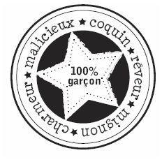 Florilèges - Tampon Bois - 100% garçon                                                                                                                                                                                 Plus
