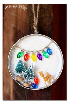 winter wonderland mason jar ornament - Homemade Christmas Decorations Pinterest