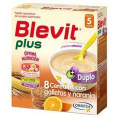 BLEVIT Plus 8 Cereales con Galletas y Naranja 600gr.