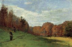 숲 가에서 나무 줍는 사람들-가을