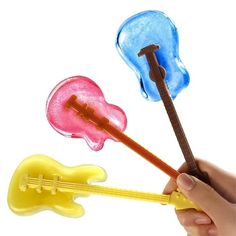 Cool Jazz Guitar Ice Cube Stirs, Set of 3