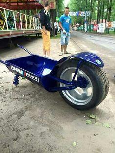 Now that's a wheelbarrow!