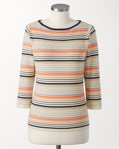 Tiered stripes pullover | Coldwater Creek
