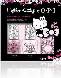 HELLO KITTY by OPI 2016 with glitter!!! So attractive