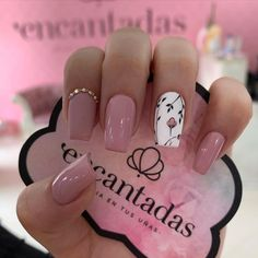 Pink Nails, My Nails, Diamond Nails, Dream Nails, Dope Nails, Nagel Gel, Cute Acrylic Nails, Bella Nails, Flower Nails