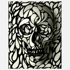 Skull Print II 11x14 now featured on Fab.