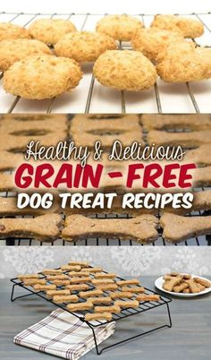 Many simple, do-it-yourself dog treat recipes! Make your own grain free dog treats!
