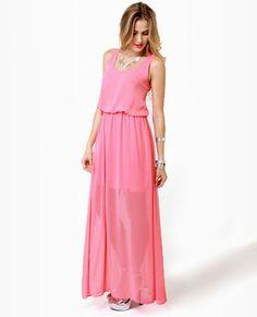 coral pink maxi dress $44