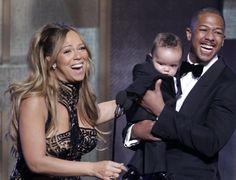 Mariah Carey com o marido Nick Cannon
