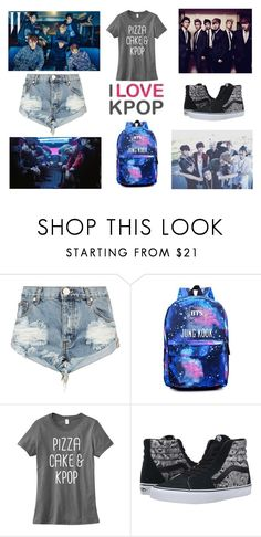 """""""I 💗 Kpop"""" by lola-twfanmily ❤ liked on Polyvore featuring OneTeaspoon and Vans"""
