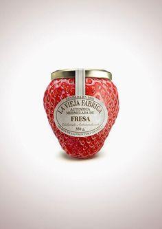 Fruit-Shaped Jam Bottles