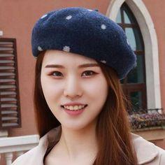 EAPTS Womens Girls Elegant Warm Beret Hat Flat Cap Winter Painter Streetwear Vintage