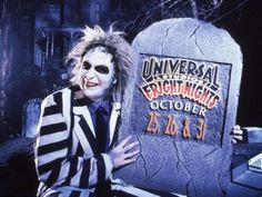 Beetlejuice at the Halloween Horror Nights in the early days of the Orlando park. Beetlejuice! Beetlejuice! Beetlejuice!   http://nerdipop.co.za/beetlejuice-beetlejuice-beetlejuice/