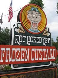 Not Licked Yet Frozen Custard in Fish Creek. Locals may just look at you a bit crazy if you tell us you've never been there! I highly recommend the Chunky Monkey Sundae.