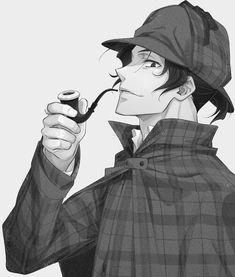 Sherlock Anime, Sherlock Moriarty, James Moriarty, Cute Anime Boy, Hot Anime Guys, Sherlock Holmes Series, Sherlock Wallpaper, Manhwa Manga, Manga Anime
