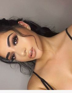 Prom Makeup Ideas Full Face - Beautiful Make-up - Prom Makeup For Brown Eyes, Brown Skin Makeup, Natural Prom Makeup, Natural Everyday Makeup, Hazel Eye Makeup, Full Face Makeup, Dark Makeup, Blue Eye Makeup, Sommer Make-up Looks