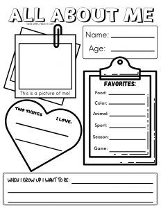 All About Me Worksheet Free Printable   Simply Bessy