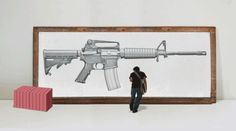 Erase an AR-15 rifle a response to gun violence by Greg Bokor