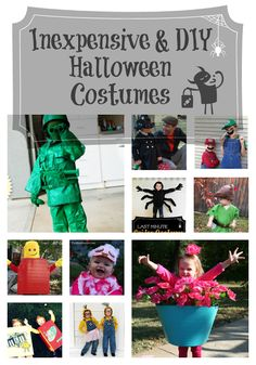 Inexpensive & DIY Halloween Costume Ideas for Kids. Still plenty of time to throw one of these costumes together. Toddler Halloween Costumes, Halloween Treats, Halloween Decorations, Halloween Party, Halloween Stuff, Creative Costumes, Diy Costumes, Costume Ideas, Holiday Crafts
