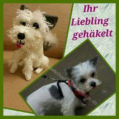 Hund gehäkelt , Yorki,Amigurumi,Dog ,www.kleinspitzhundemodelfuerstrickpullover.de
