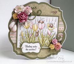 House Mouse Spring Tulip Card -http://cardsbyfernie.blogspot.co.uk/