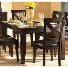 Superieur Homelegance Crown Point Rectangular Dining Table In Merlot. 7 Piece Dining  SetDining ...
