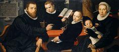 Питерс, Питер (1540-1603) - Портрет амстердамского издателя Лоренса Якобсона с женой и тремя сыновьями.