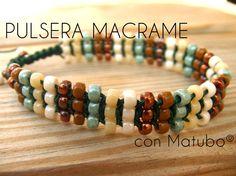 Abalorios - Pulsera de Macrame con Matubo