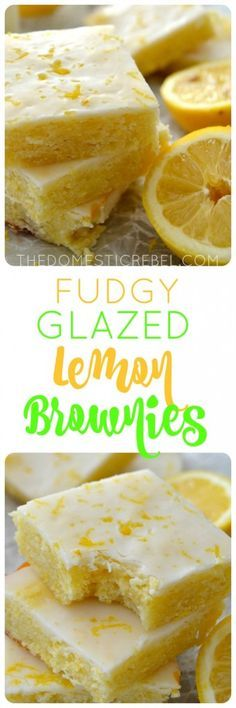 These Fudgy Glazed Lemon Brownies are such an easy recipe! Moist, chewy, fudgy and bursting with fresh lemon flavor, you'll love this fun twist on a brownie!