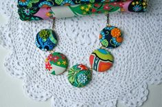 Amy Butler fabric necklace