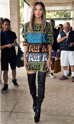 Ciara Street Style: 12 'Dope Girl Fresh' Looks Of The New Mom Ciara style Ciara Style, Urban Apparel, Look Fashion, Trendy Fashion, Fashion Outfits, Fashion Styles, Queer Fashion, Tomboy Outfits, 50 Fashion
