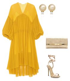 """""""Yellow Bird"""" by lecoiffeur on Polyvore featuring Chloé, Giuseppe Zanotti and Jimmy Choo"""