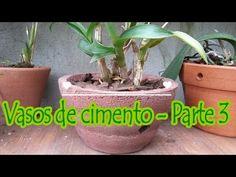 Vasos de Cimento | Parte 3: Vasos para orquídeas, vasos de parede e mais... - YouTube
