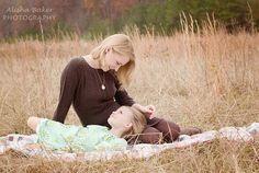 Beautiful mother daughter photo