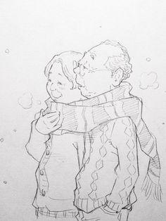 Art by 窪之内英策 Eisaku Kubonouchi* Character Drawing, Character Illustration, Character Design, Illustration Art, Drawing Skills, Drawing Sketches, Art Drawings, Cartoon Styles, Cartoon Art