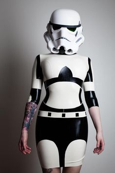 Awesome - but WAY out of my price range...Star Wars Stormtrooper Inspired Rubber Latex Dress. $595.00, via Etsy.