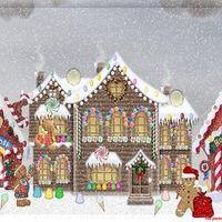 Gingerbread Christmas Village