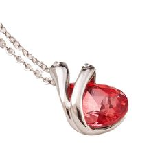 Blue, Pink, Red, Yellow, Purple, White Fashion Jewelry Women Bride Prom Crystal Pendant Necklace