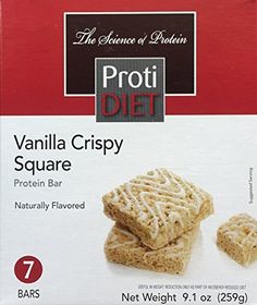ProtiDiet's Vanilla Crispy Squares are a great alternative to other fatty snacks and desserts! They're soft and chewy and bursting with rich vanilla flavors – reminiscent of everyone's old favorite – Rice Krispy Treats – but a much healthier snacking option, with... more details at http://supplements.occupationalhealthandsafetyprofessionals.com/weight-loss/bars-snacks/product-review-for-protidiet-vanilla-crispy-squares-7-servings-per-package-1