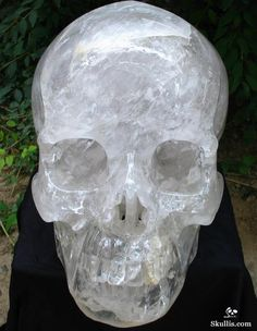 "Titan 17.8"" Quartz Rock Crystal Carved Crystal Skull"