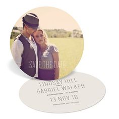Save The Date Cards -- Round And Round #peartreegreetings #savethedatecards #savethedateideas