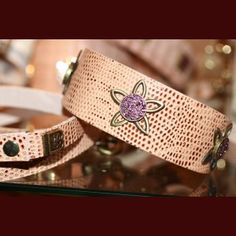 Beautiful and popular dog collar Lotus! Enjoy it! In purple crystals! $52