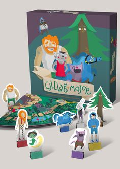 Star Manor Board Game by Lilla Bölecz, via Behance.  I like the color-coordinated binder clips to hold the pieces up.