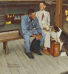Norman Rockwell1894 - 1978 Norman Rockwell 1894 - 1978   COLOR STUDY FOR BREAKING HOME TIES                                                                                                                C...