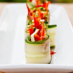 Cucumber Rolls: Vegan, Gluten Free, Low Carb, Low Calorie Appetizer